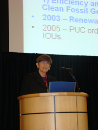 Martha Krebs from the California Energy Comission