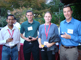 PhD & graduate students at a reception