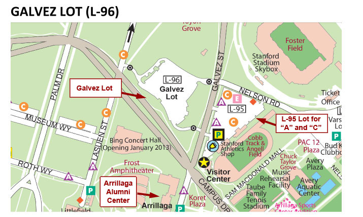 Galvez Parking Map Image