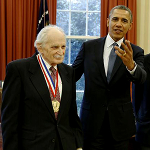 Allen Bard and President Obama