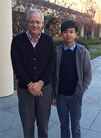 GCEP investigator Roger Howe (left) and Ph.D. candidate Hongyuan Yuan